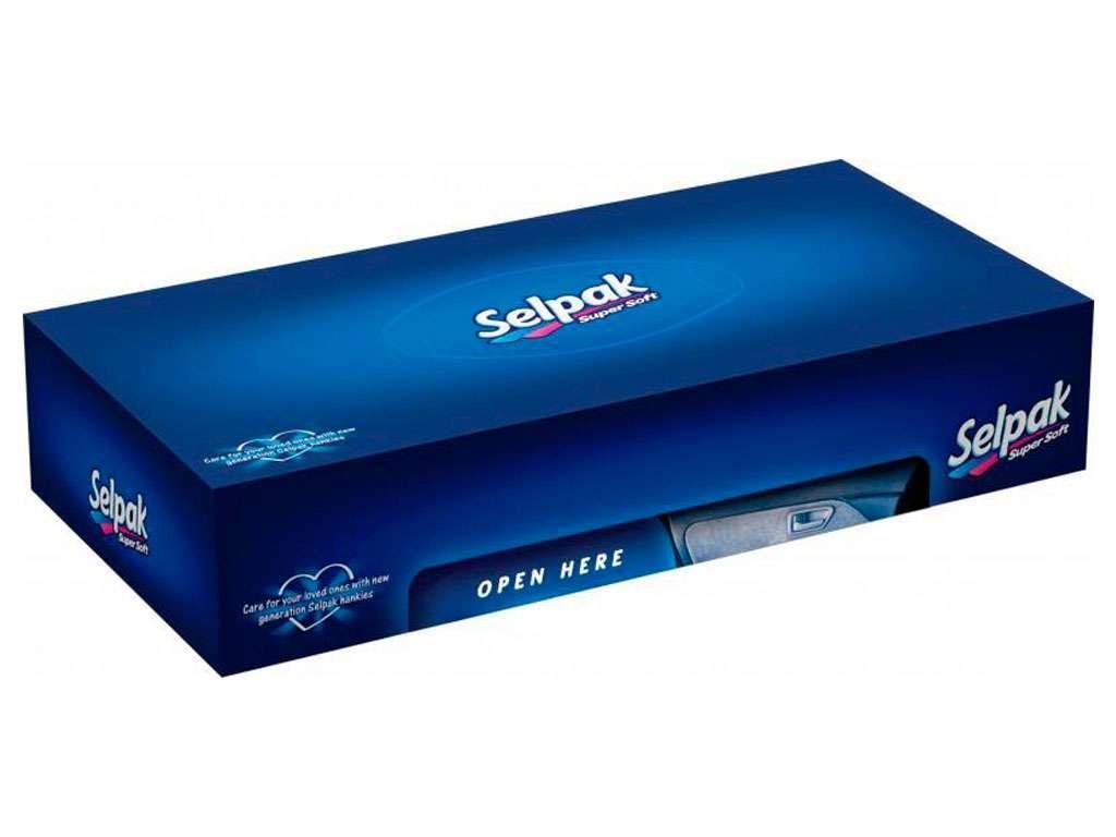 """Салфетки Selpak """"Maxi"""", 3-слойные, вытяжные, 100 штук в упаковке"""