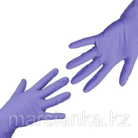 Перчатки UNIX Medical, нитриловые (Фиолетовые), размер S, 100шт., фото 2