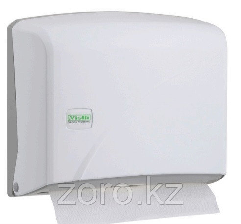 Диспенсер для бумажных полотенец Z укладка белый пластик Турция