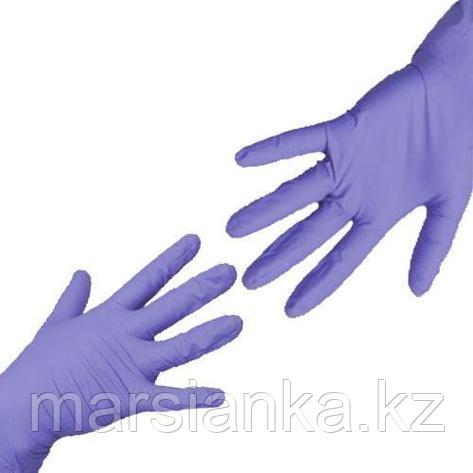 Перчатки UNIX Medical, нитриловые (Фиолетовые), размер М, 100шт., фото 2