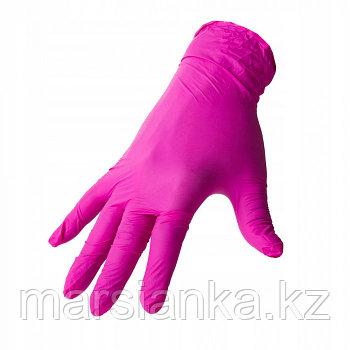 Перчатки UNIX Medical, нитриловые (фуксия), размер XS, 100шт.
