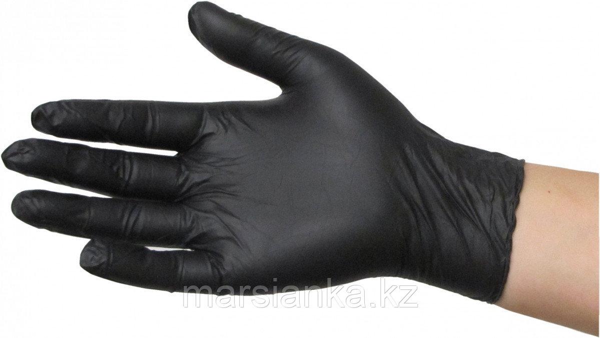 Перчатки UNIX Medical нитриловые (черные), размер XS, 100шт