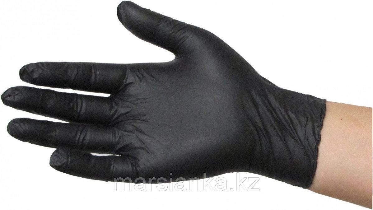 Перчатки нитриловые, (черные), размер L, 100шт.