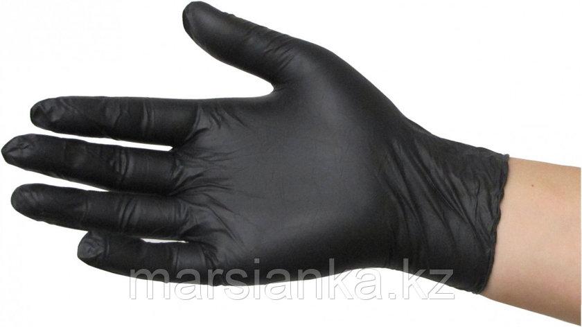Перчатки нитриловые, (черные), размер L, 100шт., фото 2