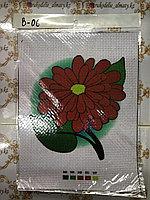 """Канва-схема для вышивки  """"Красный цветок"""""""