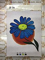 "Канва-схема для вышивки  ""Голубой цветок"""
