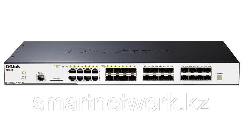 Управляемый стекируемый коммутатор уровня 2+ с 16 портами 100/1000Base-X SFP, 8 комбо-портами 100/1000Base-T/S