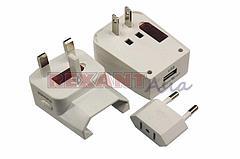 Адаптер сетевой «Путешественник» с USB (11-1051), REXANT
