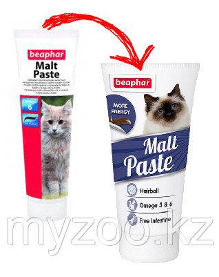 Malt Paste Omega 6  Средство для выведения шерсти из желудка кошек и котят 100 гр
