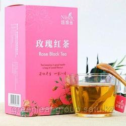 Черный чай с розой Nilrich от Greenleaf (Гринлиф)