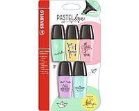 Набор текстовыделителей STABILO Boss Mini Pastellove, 5 цветов