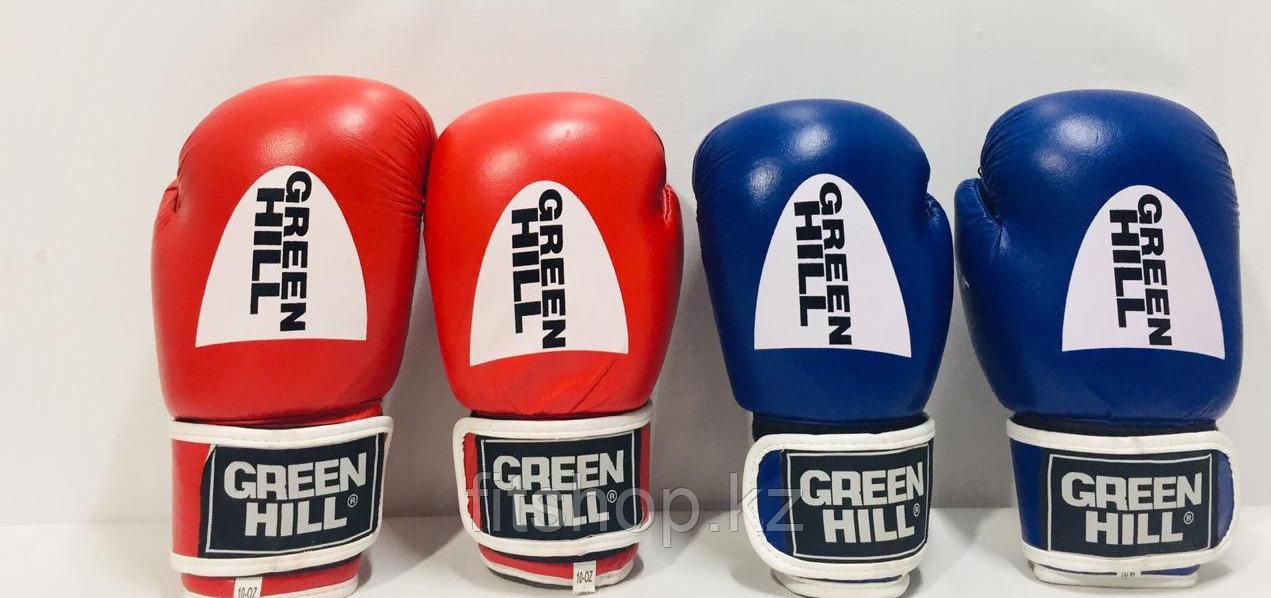 Перчатки для бокса и кикбоксинга Green Hill натуральная кожа размер 10-12 OZ