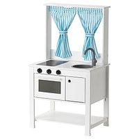 Детская кухня с гардинами СПАЙСИГ белая 55x37x98 см ИКЕА