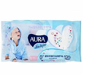 Влажные салфетки Aura для детей Ultra Comfort , 120шт