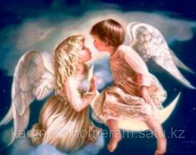 """Картина по номерам """"Ангелы в лунном свете"""""""