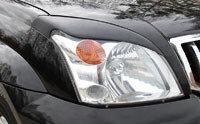 Накладки на передние фары (реснички) Toyota LC Prado 120 2003-2009, фото 2