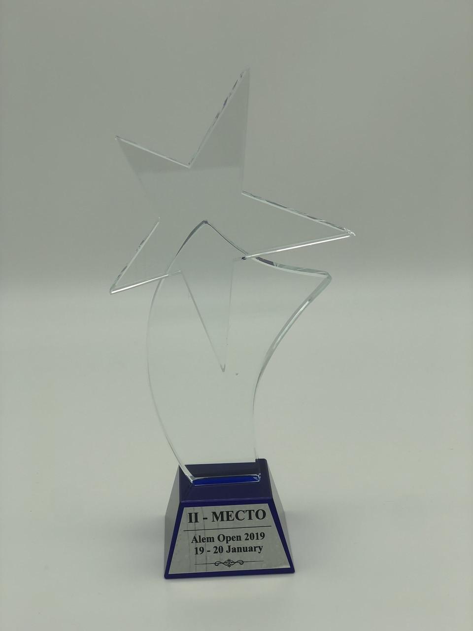 Прозрачная статуэтка «Звезда» из хрусталя