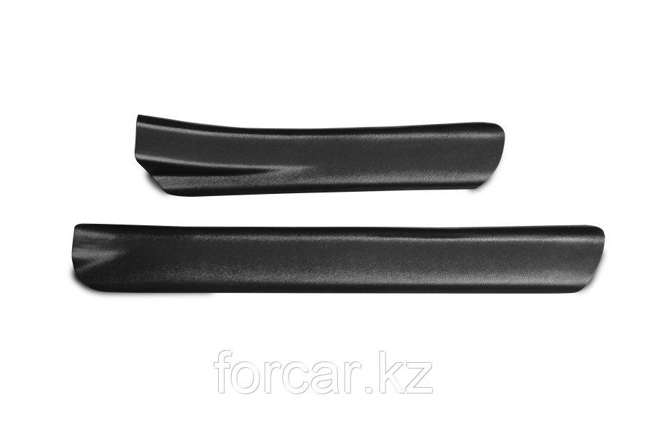 Накладки на внутренние пороги дверей-задние (2 шт.) Вариант 2 Renault Duster 2010-