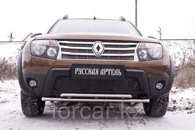 Зимняя заглушка решетки переднего бампера (без «дхо» и обвеса) Renault Duster 2010-, фото 2