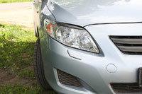 Накладки на передние фары (Реснички) Toyota Corolla SD 2007-2010, фото 2