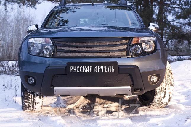 Зимняя заглушка решетки переднего бампера (без «дхо» с обвесом) Renault Duster 2010-, фото 2