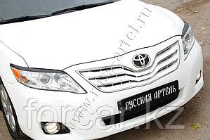 Накладки на передние фары (Реснички) укороч. Toyota Camry V40 2009-2011