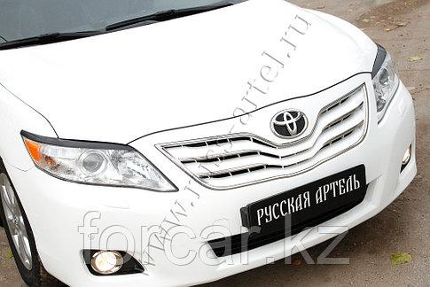Накладки на передние фары (Реснички) укороч. Toyota Camry V40 2009-2011, фото 2
