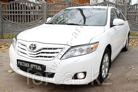 Накладки на передние фары (Реснички) . Вар. 2 Toyota Camry V40 2009-2011, фото 2