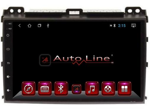 Автомагнитола AutoLine TOYOTA LC PRADO 120 2002-2009 HD ЭКРАН 1024-600 ПРОЦЕССОР 4 ЯДРА (QUAD CORE)