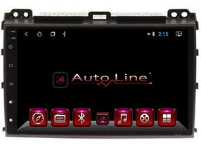 Автомагнитола AutoLine TOYOTA LC PRADO 1202002-2009 HD ЭКРАН 1024-600 ПРОЦЕССОР 4 ЯДРА (QUAD CORE)