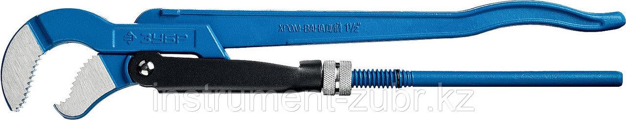 """Ключ трубный ЗУБР Тип """"У"""", №2, изогнутые губки"""