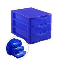 Стамм Бокс сборный с выдвижными лотками СТАММ, 3 отделения, синий.