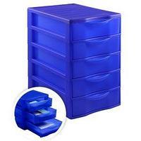 Стамм Бокс сборный с выдвижными лотками СТАММ, 5 отделений, синий.