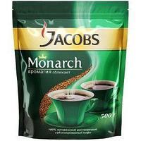 Jacobs Кофе растворимый Jacobs Monarch, сублимированный, мягкая упаковка, 500 г.