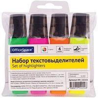 OfficeSpace Набор текстовыделителей OfficeSpace, 4 цвета, 1-5 мм., ассорти.