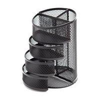 Berlingo Органайзер Steel&Style, металлическая, 6 секций, черная.