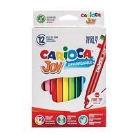 Carioca Фломастеры Joy, 12цв., смываемые, картон.