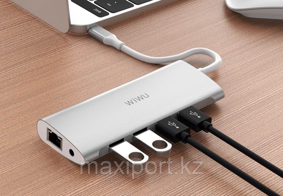 USB Адаптер  Wiwu  Alpha 11-in-1 Usb-C