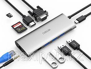 USB Адаптер  Wiwu  Alpha 11-in-1 Usb-C, фото 2