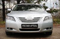 Накладки на передние фары (Реснички) Toyota Camry V40 2006-2009 (дорест.), фото 2