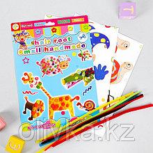 Набор для создания игрушки «Улитка и клоун» из меховых палочек