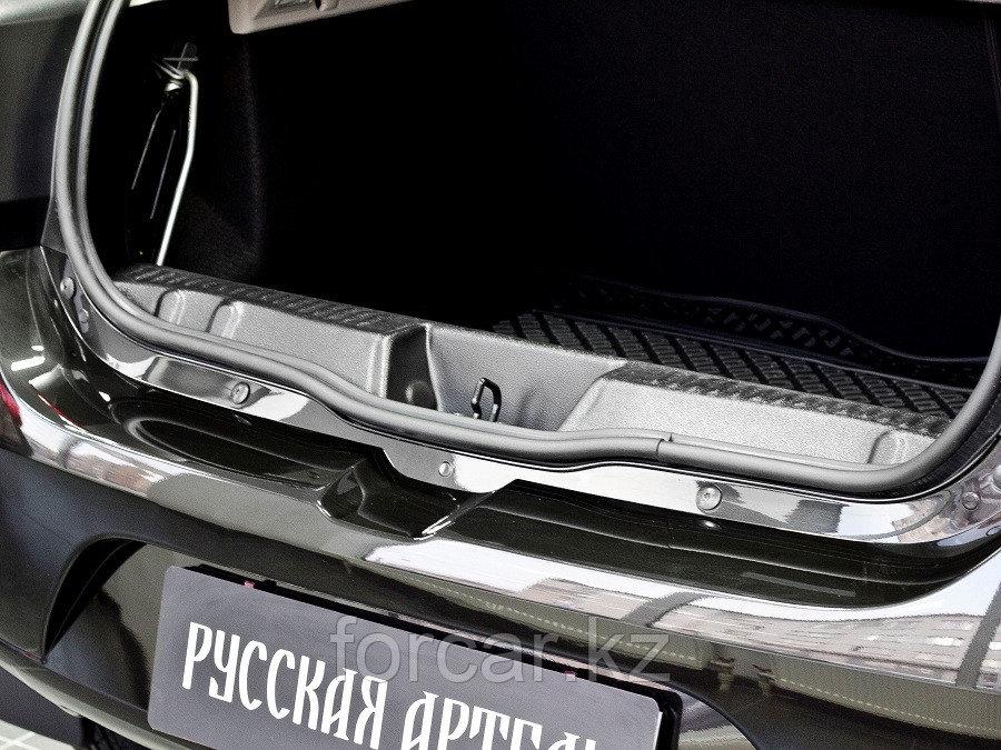 Накладка на порожек багажника Renault Sandero 2014-