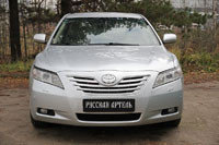 Накладки на передние фары (Реснички) укороченные Toyota Camry V40 2006-2009 (дорест.), фото 2