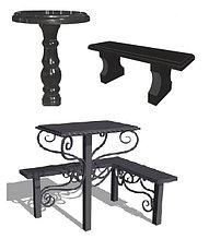 Столы и лавочки на кладбище