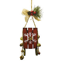 Набор для творчества - создай ёлочное украшение «Санки со снежинкой»