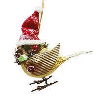 Набор для творчества - создай ёлочное украшение «Птичка в колпачке»