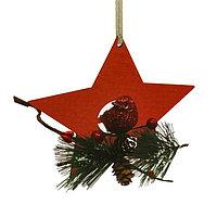 Набор для творчества - создай ёлочное украшение «Птичка в звёздочке»