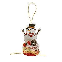 Набор для творчества - создай ёлочное украшение «Снеговичок в цилиндре»