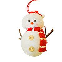 Набор для творчества - создай ёлочное украшение «Снеговичок с пуговками»