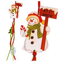 Набор для создания новогодней подвески «Снеговичок»